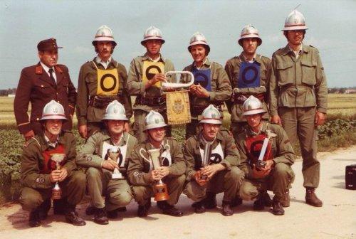 1980 NÖ Landessieger Bronze: Kdt. Kammerer; L.Pilwarsch; B. Fembek; G. Max; E. Kammerer; N.Stella; vorne: R. Taibl; G. Maierhofer; F. Benedik; R. Kammerer; R. Römer