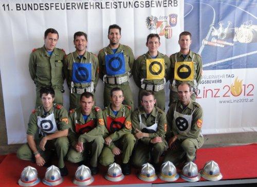 Bundesbewerb 2012 Linz, Gugl: A.Osabal, R.Zobl, H.Kammerer, J.Strasser, P.Kressnik, vorne: L.Pfarr, C.Medlitsch, M.Berger, G.Kammerer, J.Sieghart